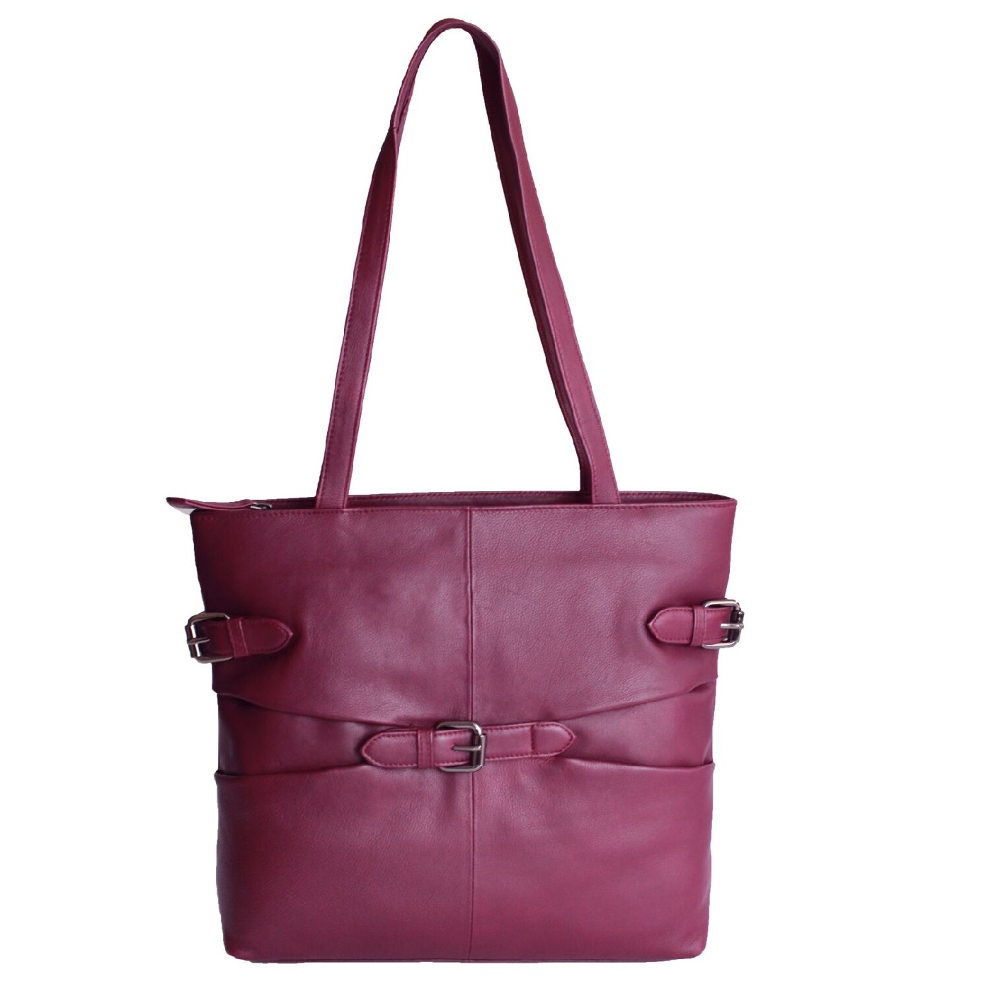 Eastern Counties Leather Womens/Ladies Jill Tote Style Handbag (One size) (Burgundy)