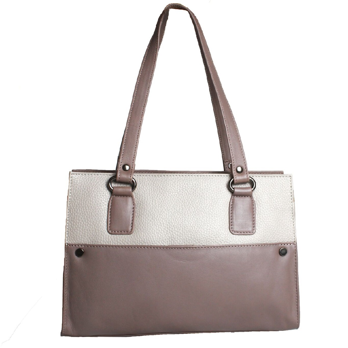Eastern Counties Leather Womens/Ladies Joy Double Strap Handbag (One size) (Taupe/Stone)