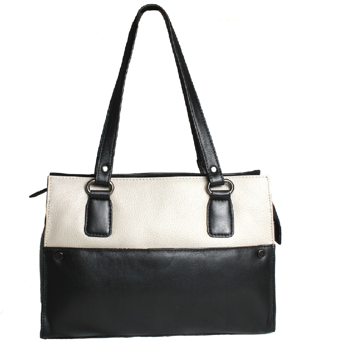 Eastern Counties Leather Womens/Ladies Joy Double Strap Handbag (One size) (Black/Stone)