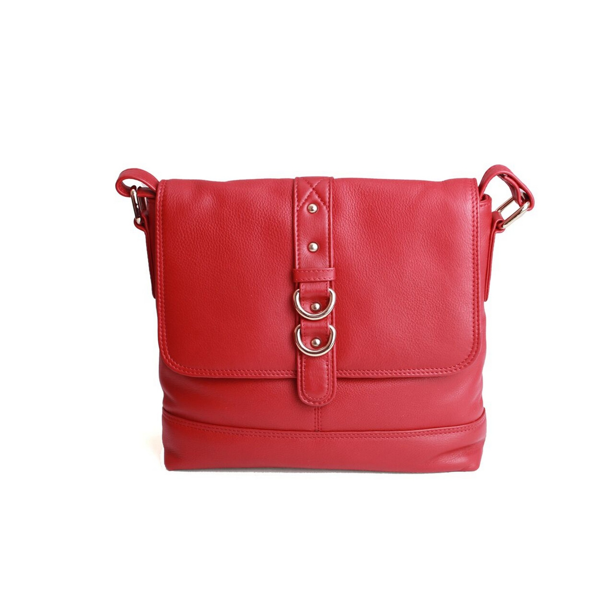 Eastern Counties Leather Womens/Ladies Jude Stud And Ring Detail Handbag (One size) (Red)