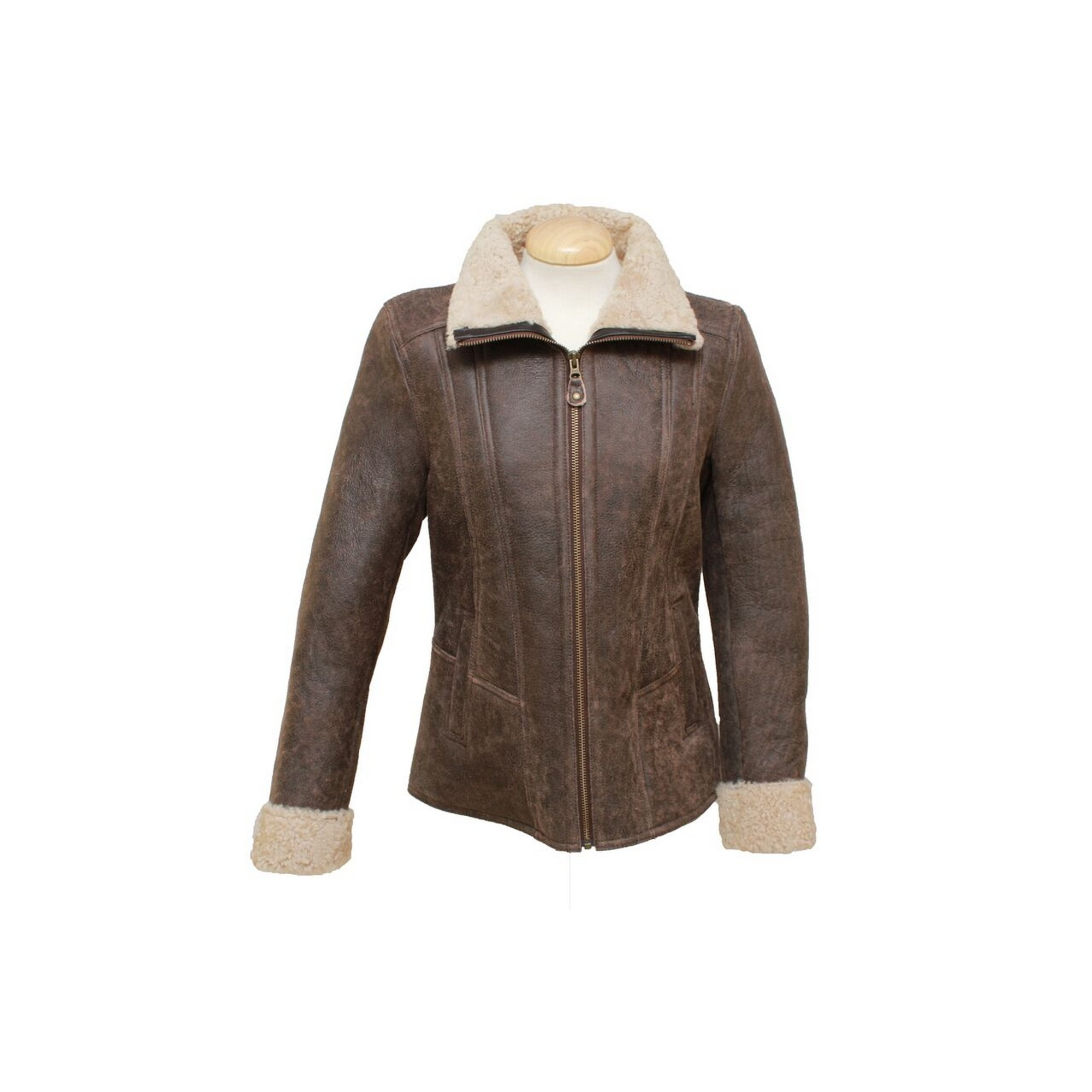 Eastern Counties Leather Womens/Ladies Krissy Aviator Sheepskin Coat (18) (Chocolate Forest)