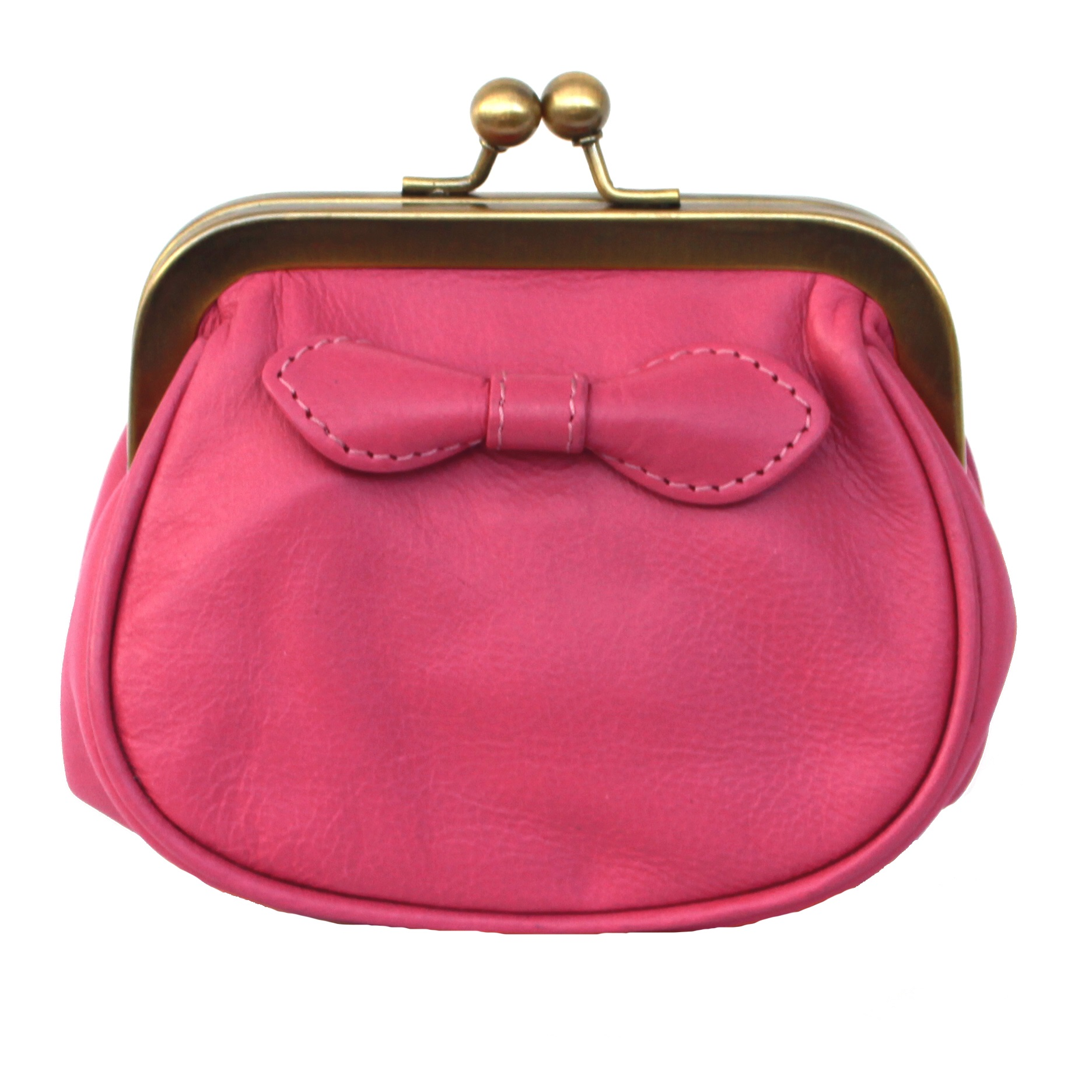 Eastern Counties Leather Womens/Ladies Lottie Kiss Lock Coin Purse (One size) (Rose-Pink)
