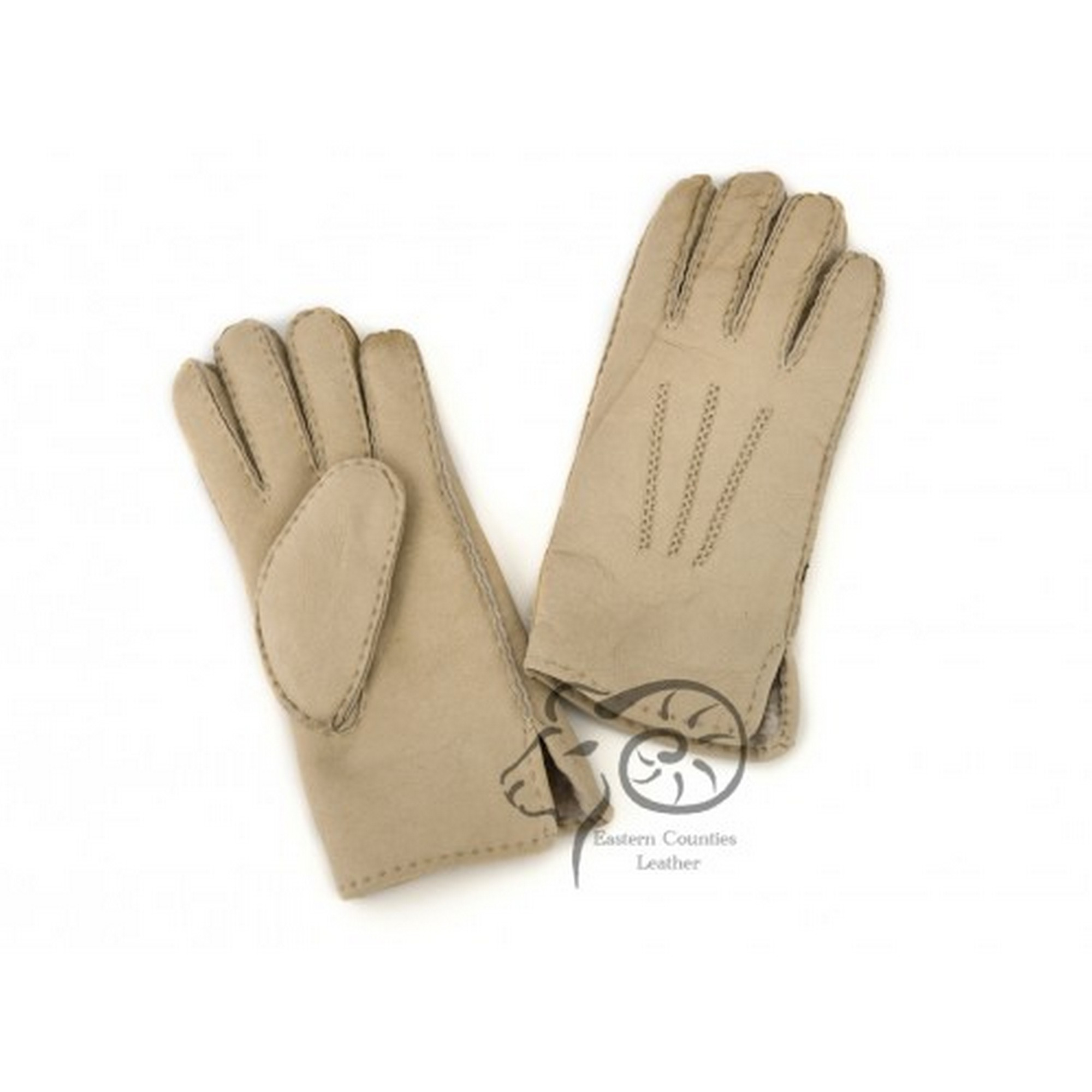 Eastern Counties Leather Womens/Ladies 3 Point Stitch Detail Sheepskin Gloves (XL) (Grey)