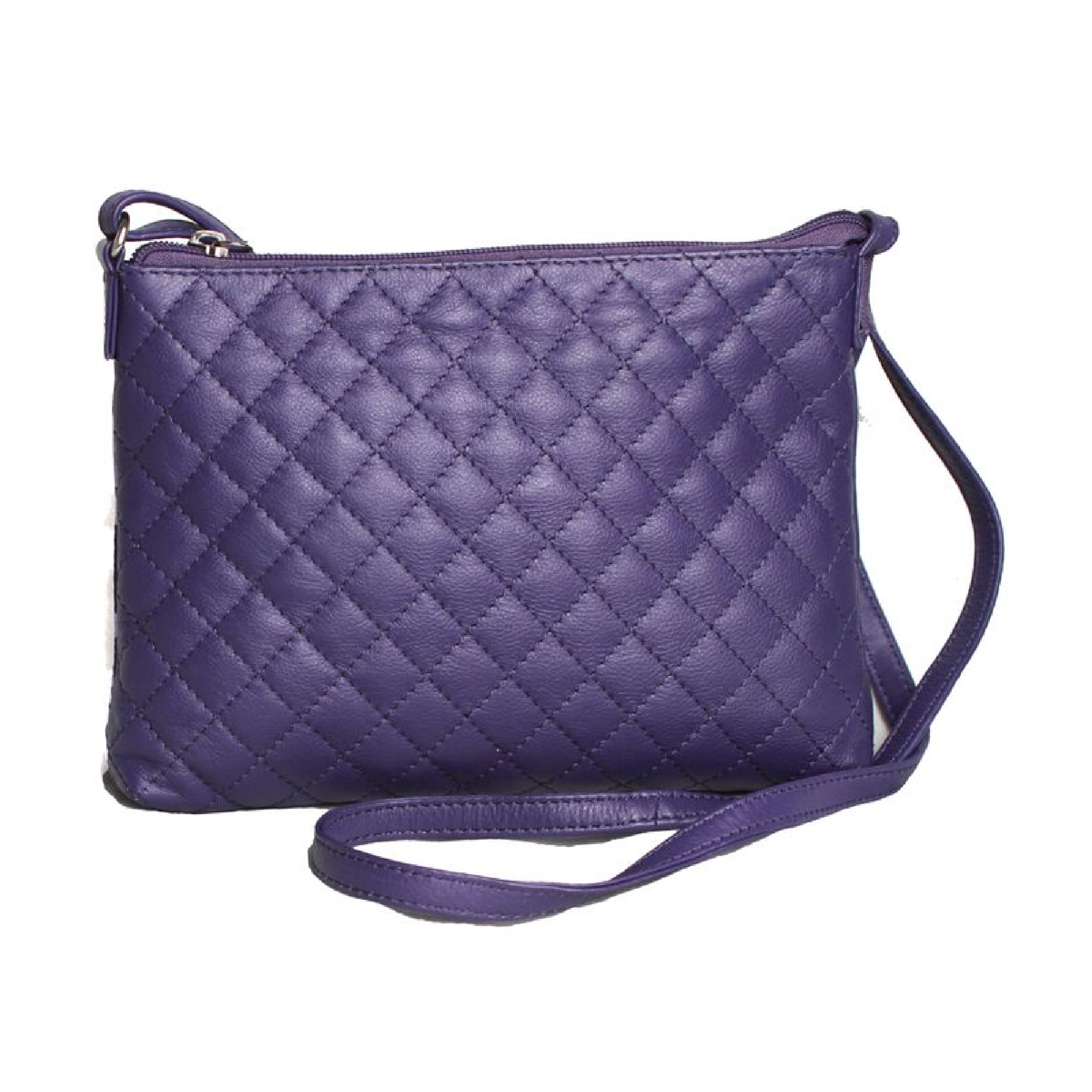Eastern Counties Leather Womens/Ladies Rose Quilted Handbag (One size) (Purple)