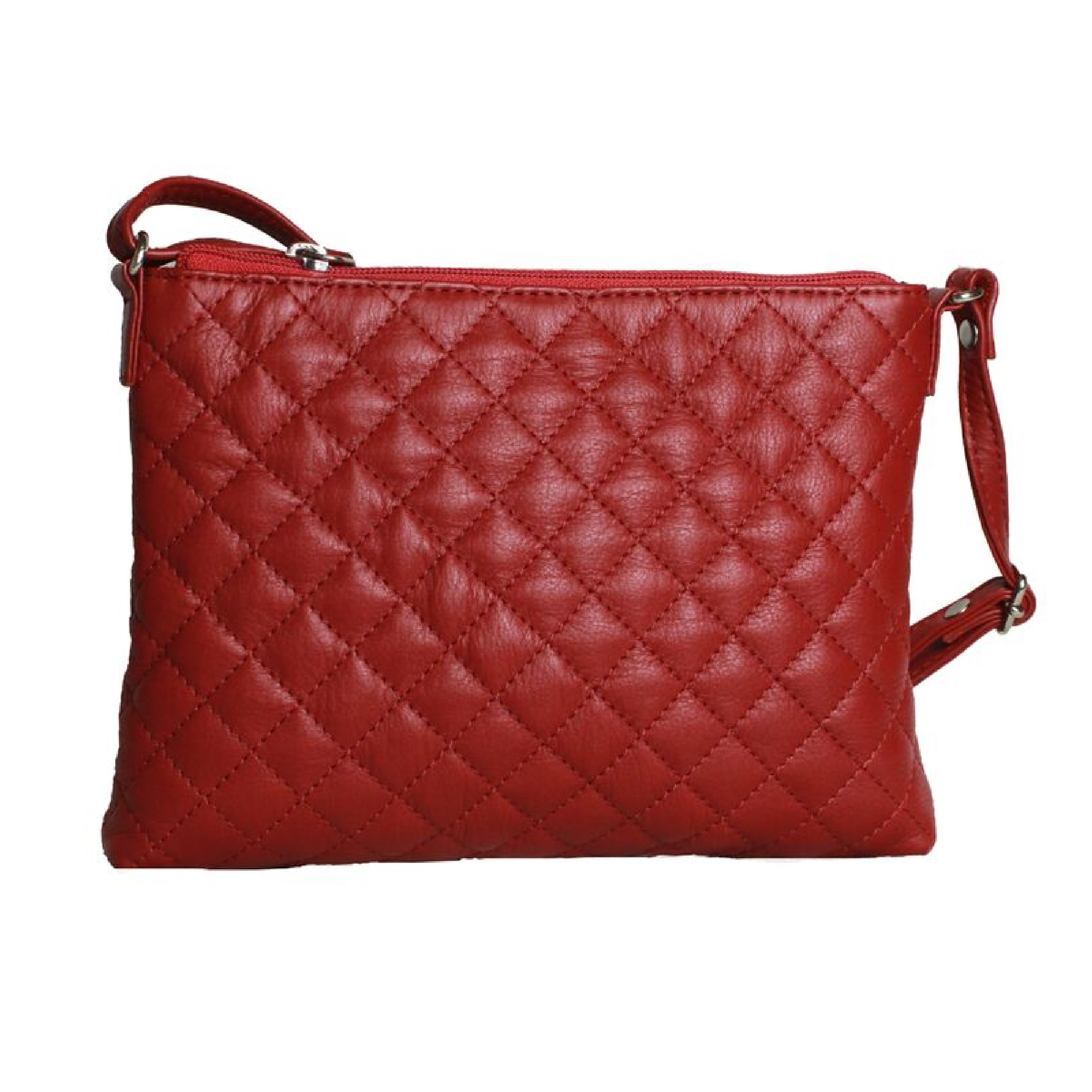 Eastern Counties Leather Womens/Ladies Rose Quilted Handbag (One size) (Red)
