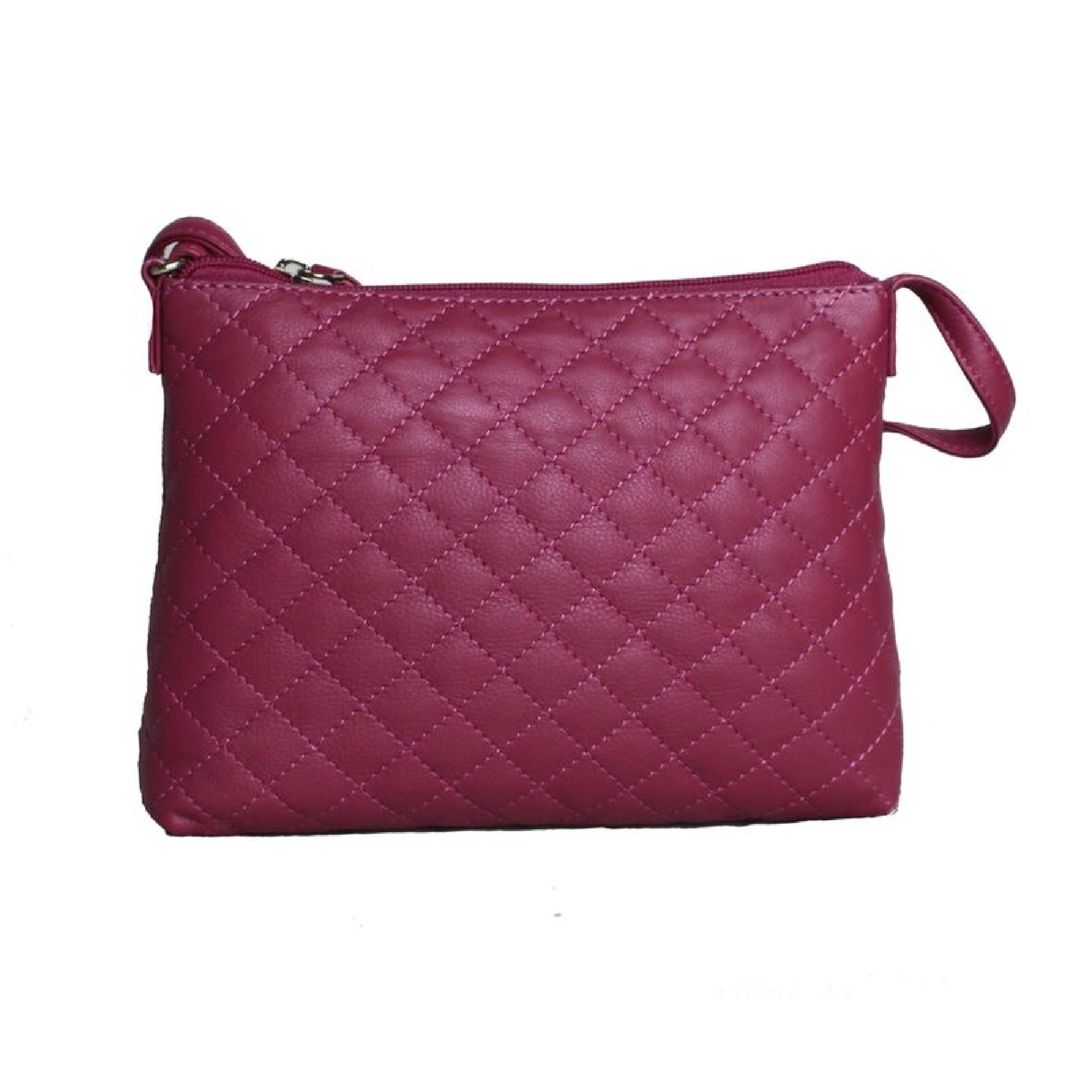 Eastern Counties Leather Womens/Ladies Rose Quilted Handbag (One size) (Fuchsia)