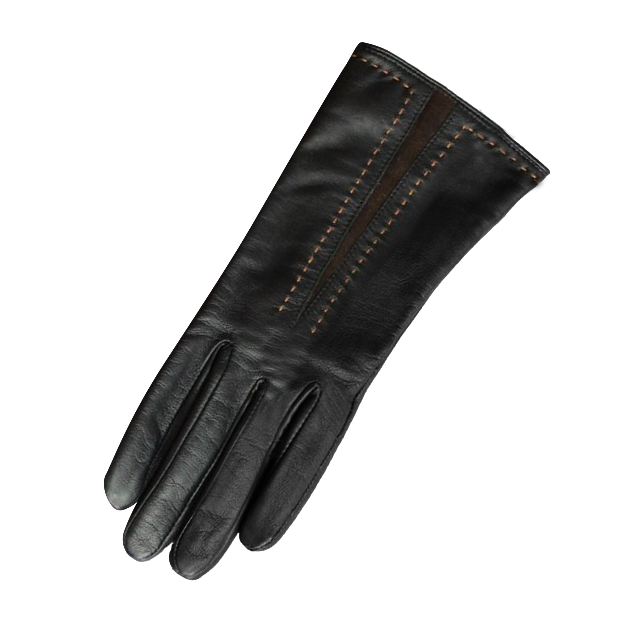 Eastern Counties Leather Womens/Ladies Sadie Contrast Panel Gloves (S) (Black/Brown)