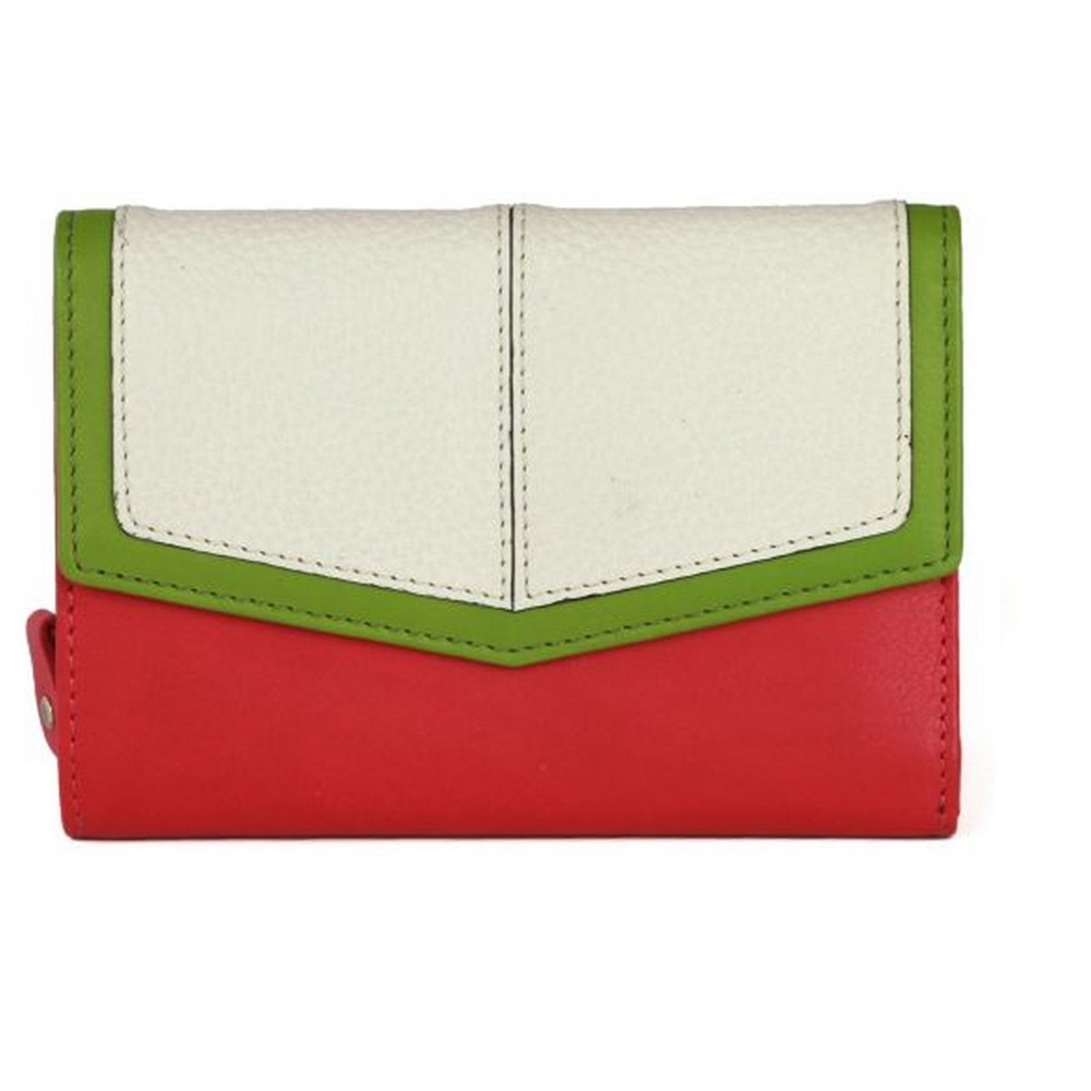 Eastern Counties Leather Womens/Ladies Bessie Purse With Envelope Panel (One Size) (Pink/White)