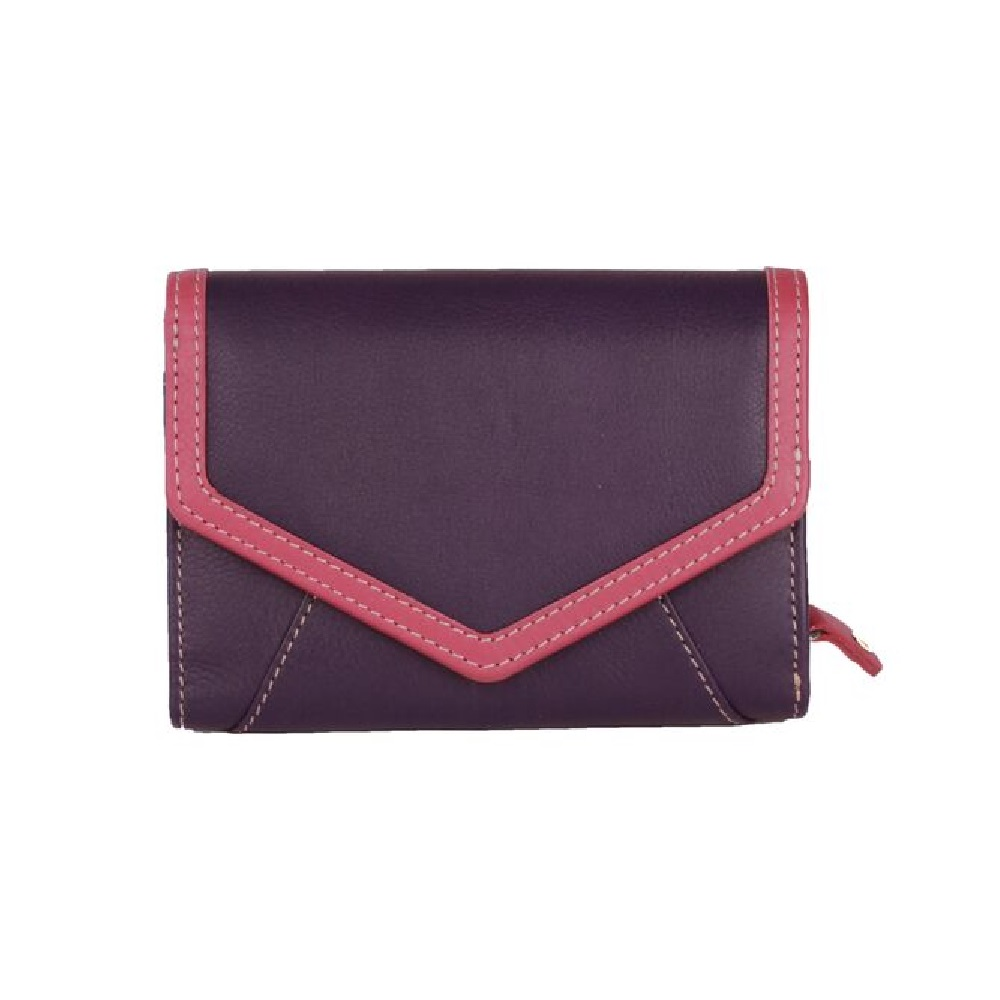 Eastern Counties Leather Womens/Ladies Carla Envelope Style Purse (One Size) (Purple/Pink)