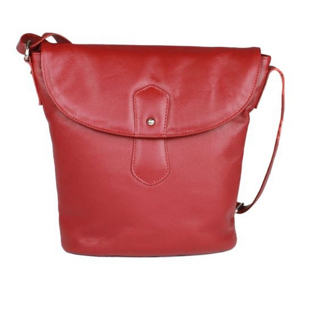 Eastern Counties Leather Womens/Ladies Demi Handbag With Rounded Flap (One Size) (Red)