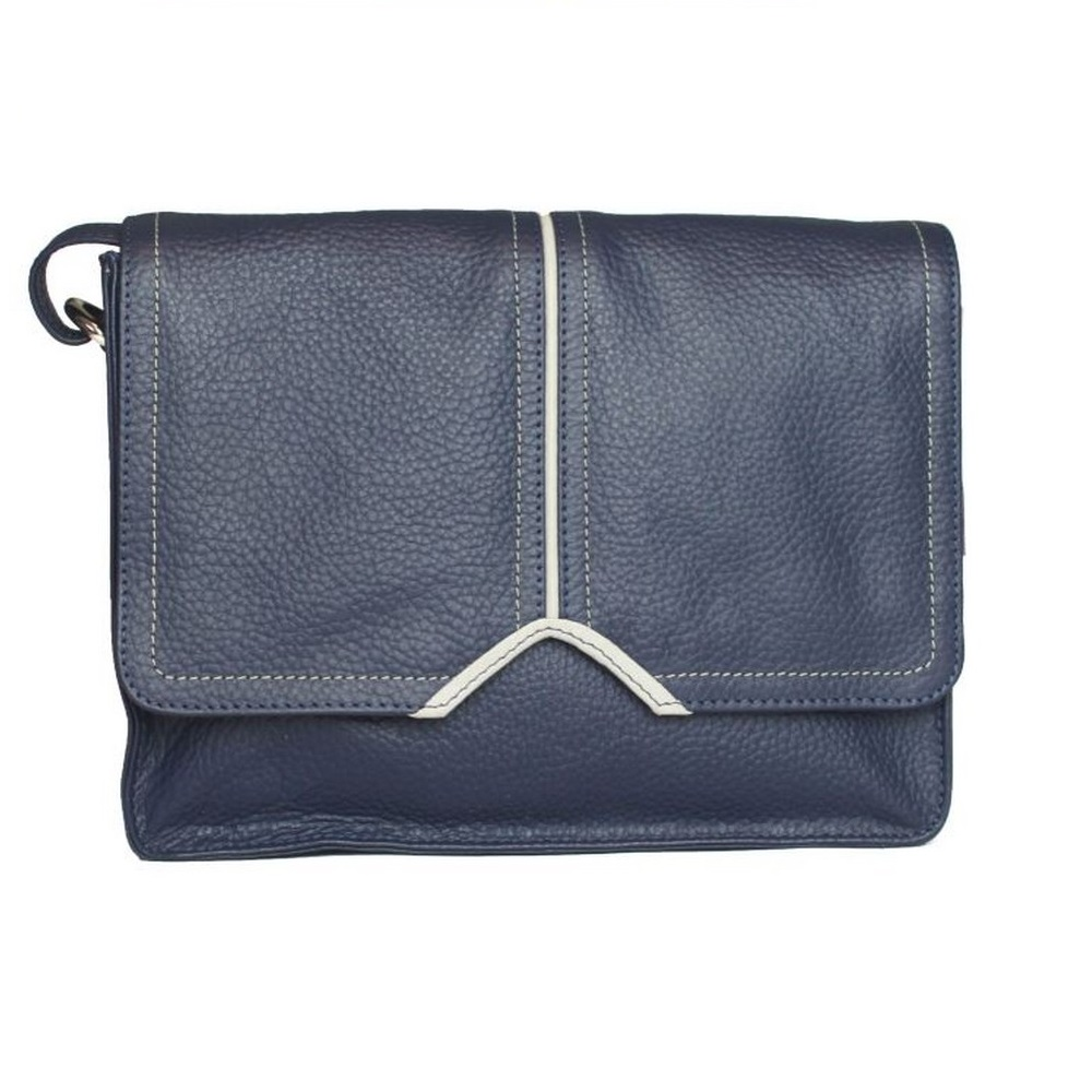Eastern Counties Leather Womens/Ladies Eloise Handbag With Contrast Piping Detail (One Size) (Navy/White)
