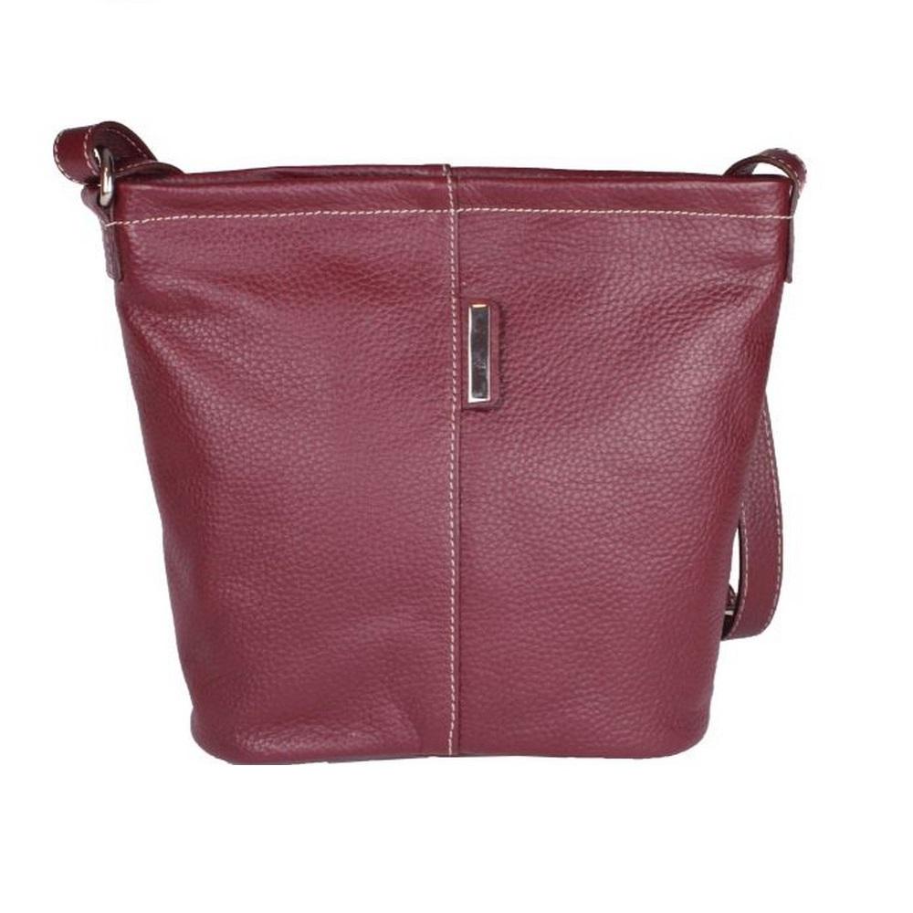 Eastern Counties Leather Womens/Ladies Erica Handbag With Metal Detail (One Size) (Burgundy)