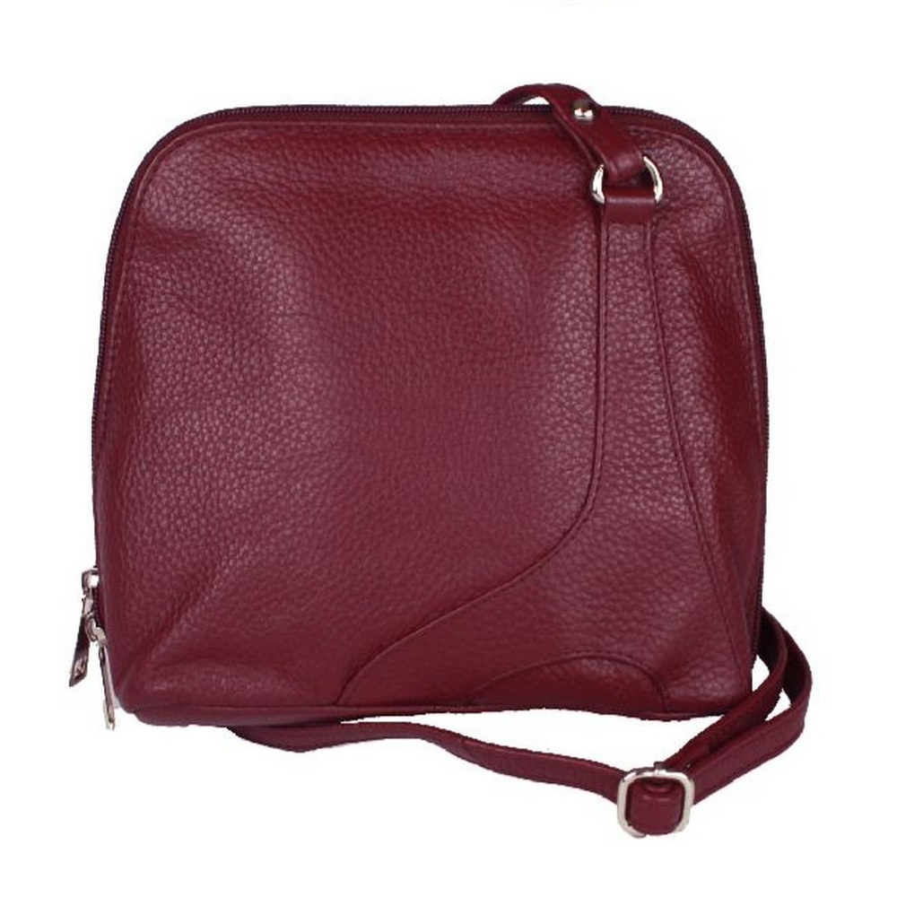 Eastern Counties Leather Womens/Ladies Farah Handbag With Panel Detail (One Size) (Burgundy)