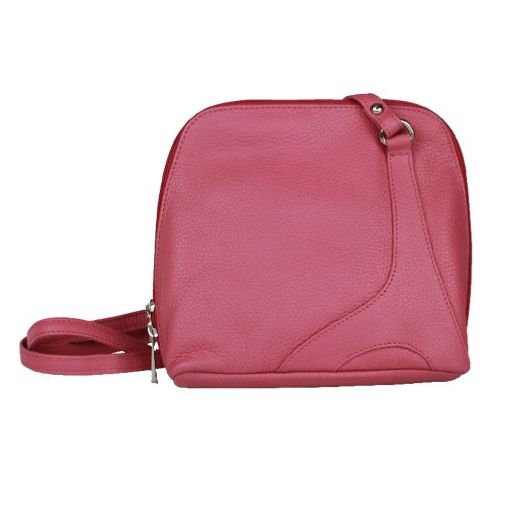Eastern Counties Leather Womens/Ladies Farah Handbag With Panel Detail (One Size) (Rose)