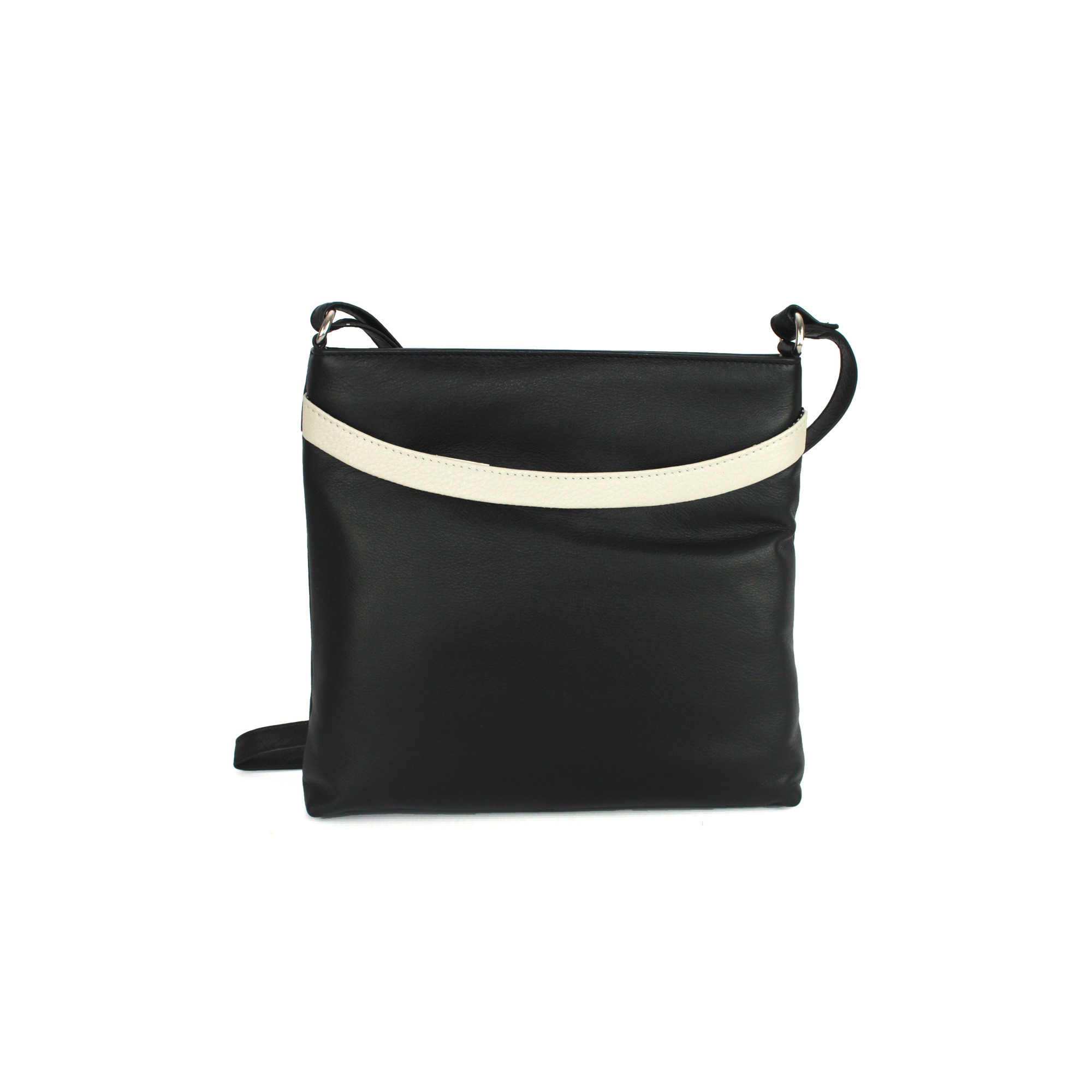 Eastern Counties Leather Womens/Ladies Aimee Colour Band Handbag (One size) (Black/White)