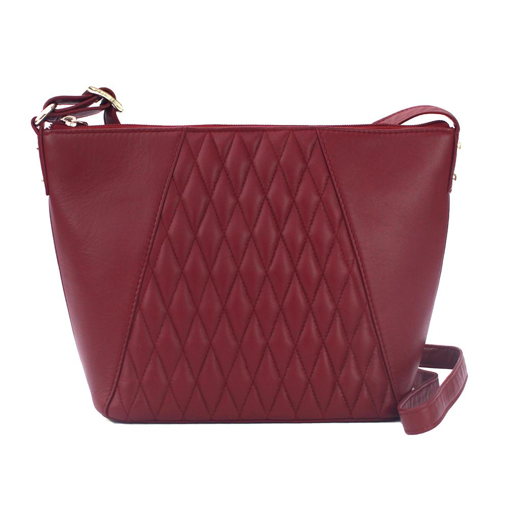 Eastern Counties Leather Womens/Ladies Alegra Quilted Handbag (One size) (Cranberry)