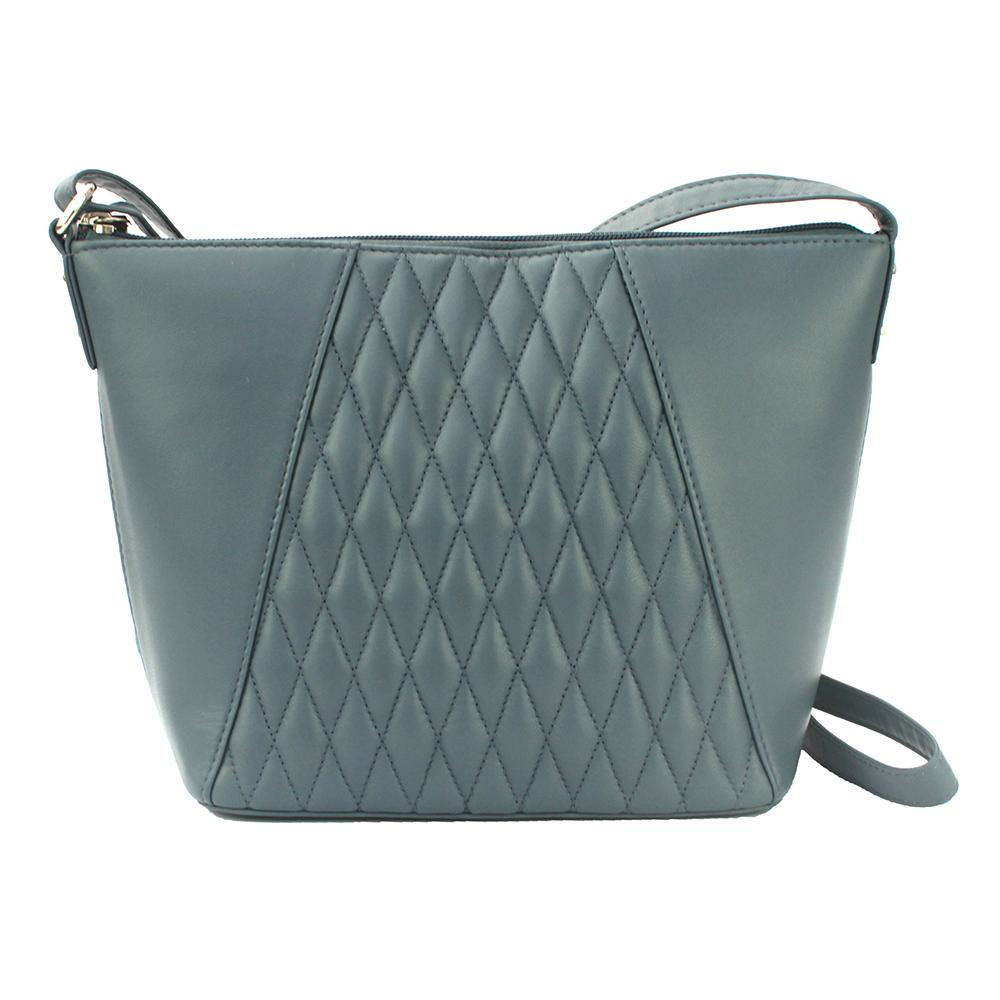 Eastern Counties Leather Womens/Ladies Alegra Quilted Handbag (One size) (Grey)