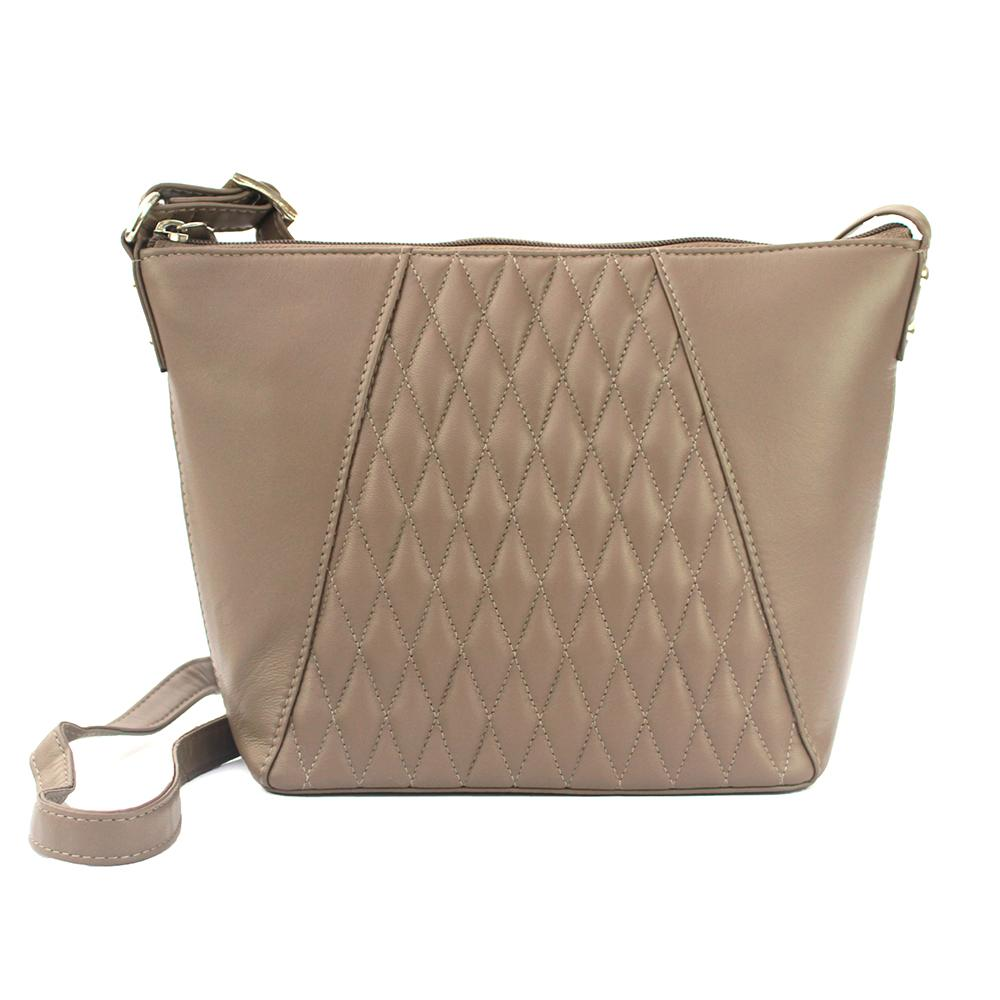 Eastern Counties Leather Womens/Ladies Alegra Quilted Handbag (One size) (Taupe)
