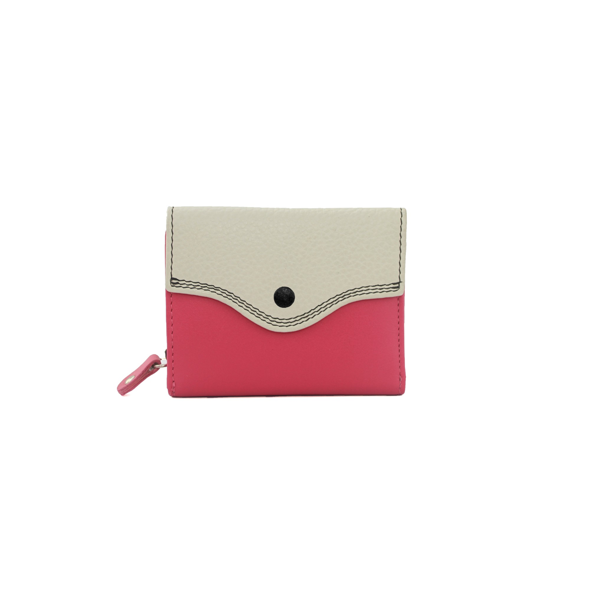 Eastern Counties Leather Womens/Ladies Stella Button Purse (One size) (Pink/Stone)