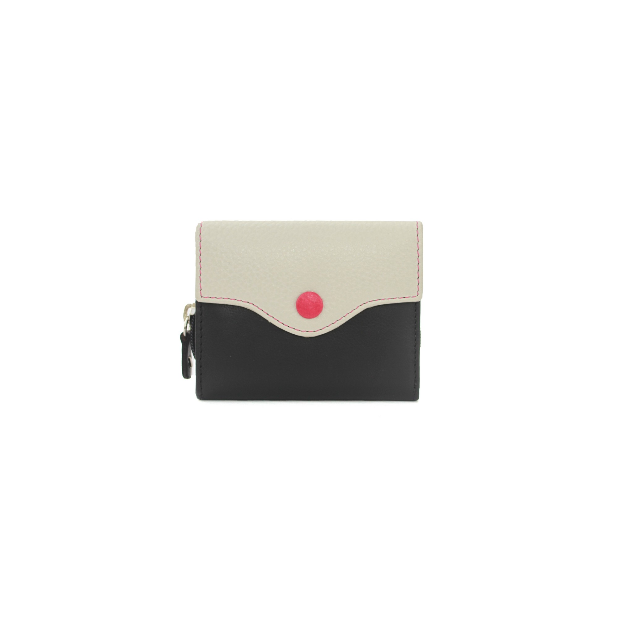 Eastern Counties Leather Womens/Ladies Stella Button Purse (One size) (Black/Stone)