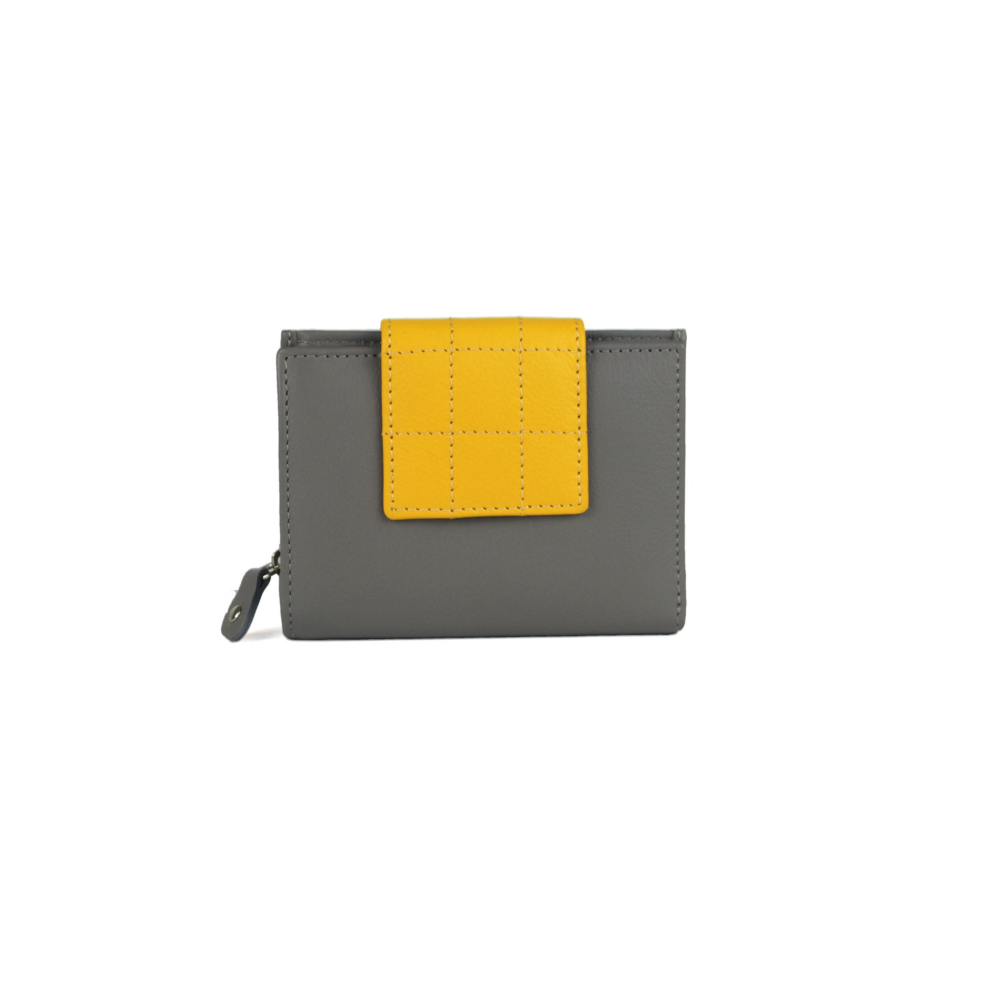 Eastern Counties Leather Womens/Ladies Diva Quilted Tab Purse (One size) (Grey/Ochre)