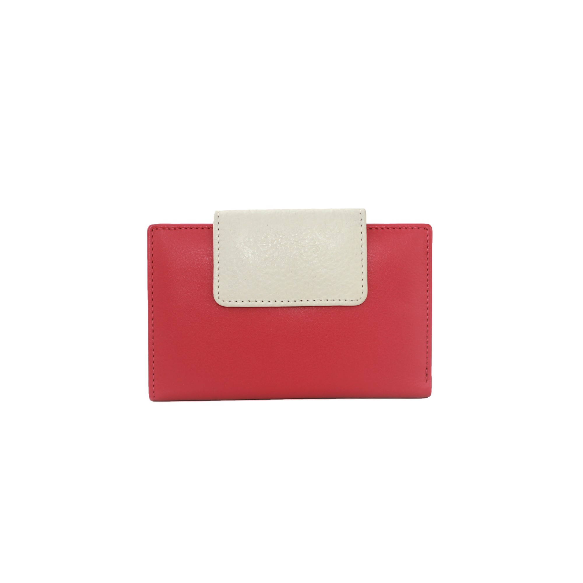 Eastern Counties Leather Womens/Ladies Christine Contrast Tab Purse (One size) (Pink/Stone)