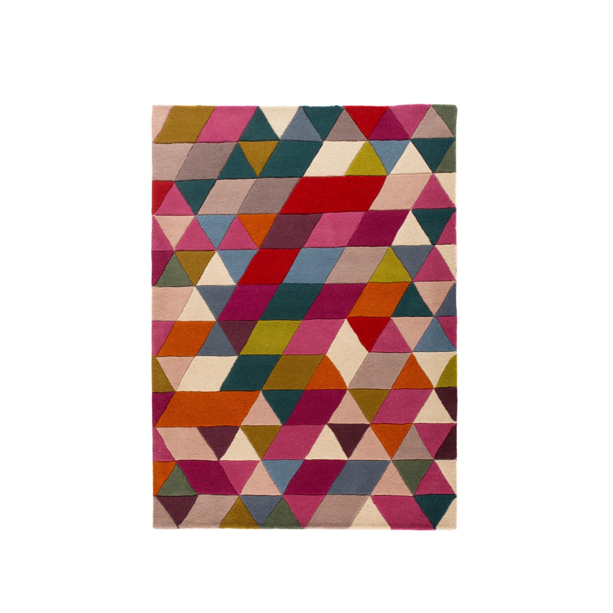 Flair Rugs Illusion Prism - Tapis en laine à motifs motifs motifs triangles (FR127) | Outlet Online Store  a1ec1d