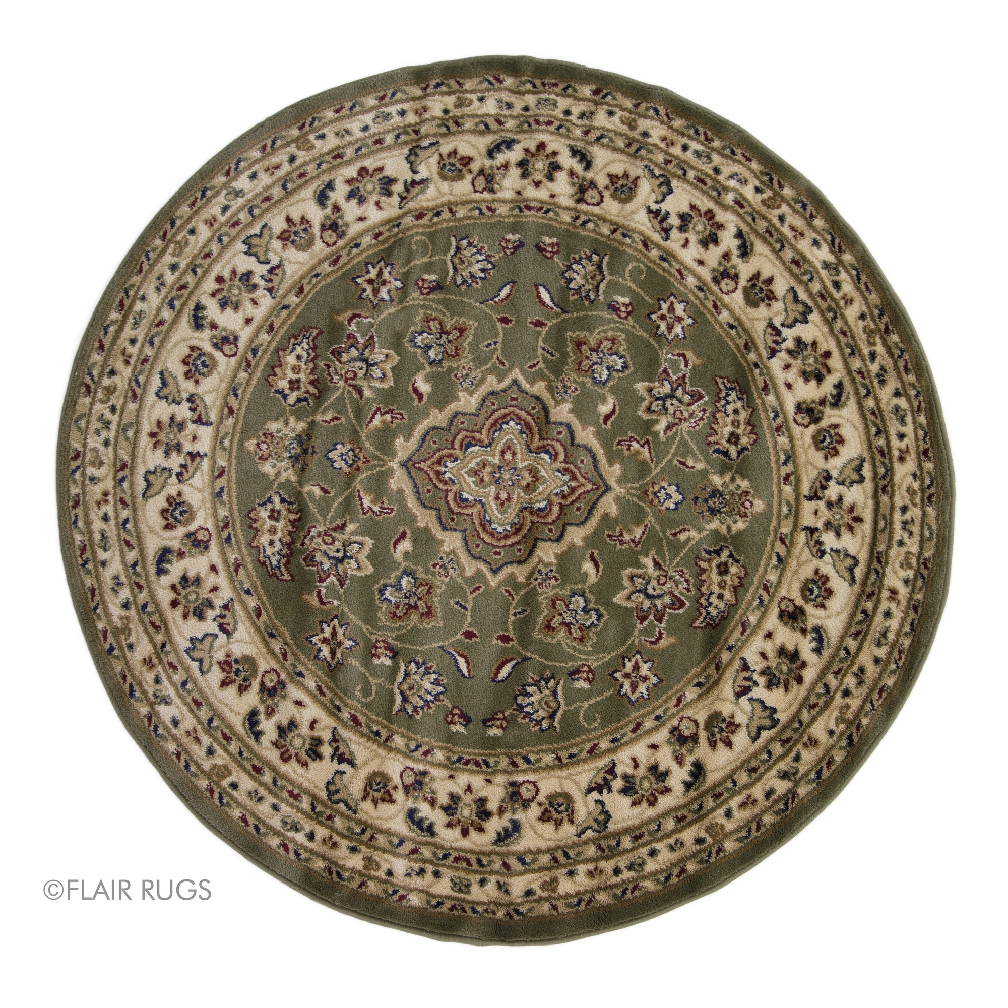 Vintage Circular Rug: Flair Rugs Sincerity Sherbourne Antique Design Round Floor