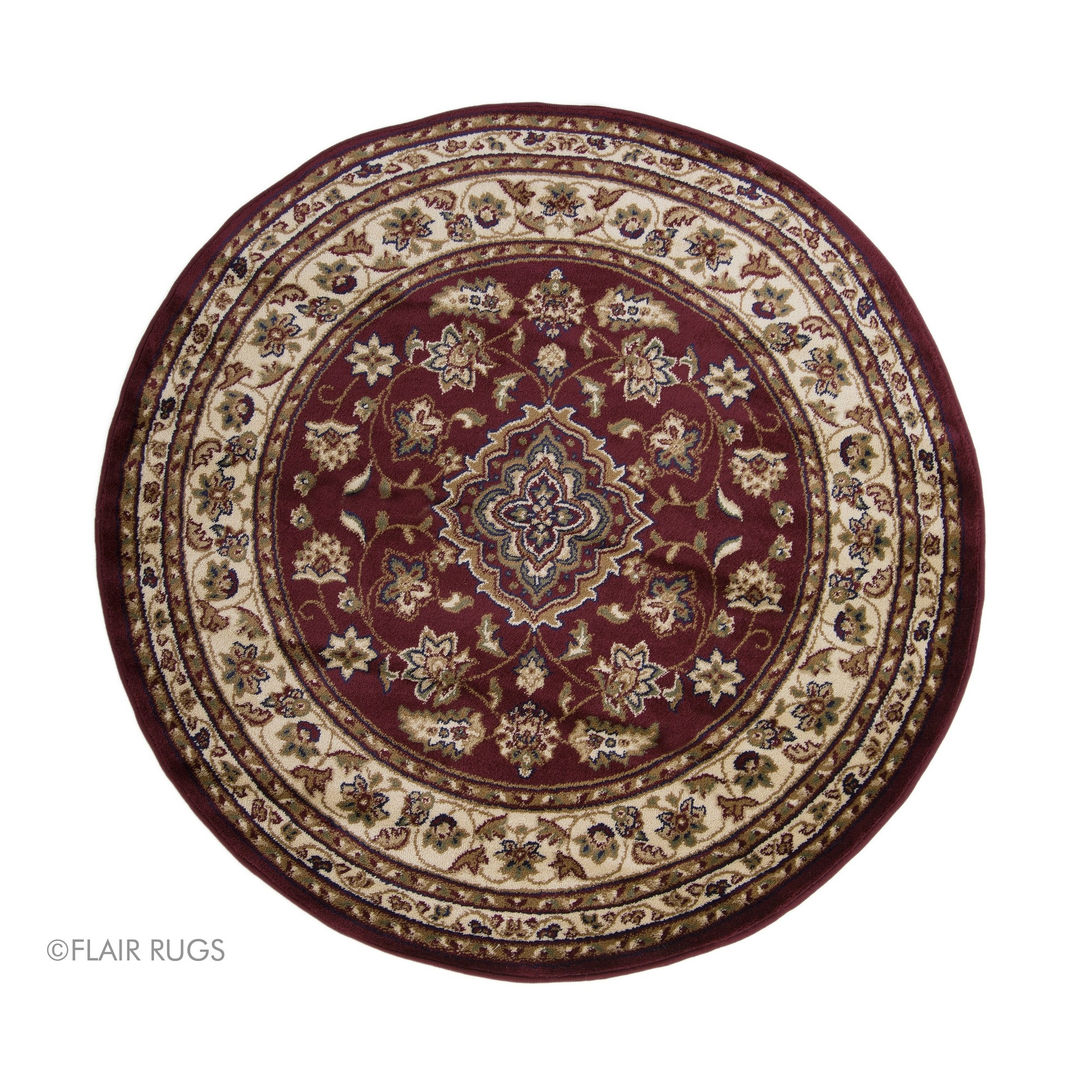Flair Rugs Sincerity Sherbourne Antique Design Round Floor