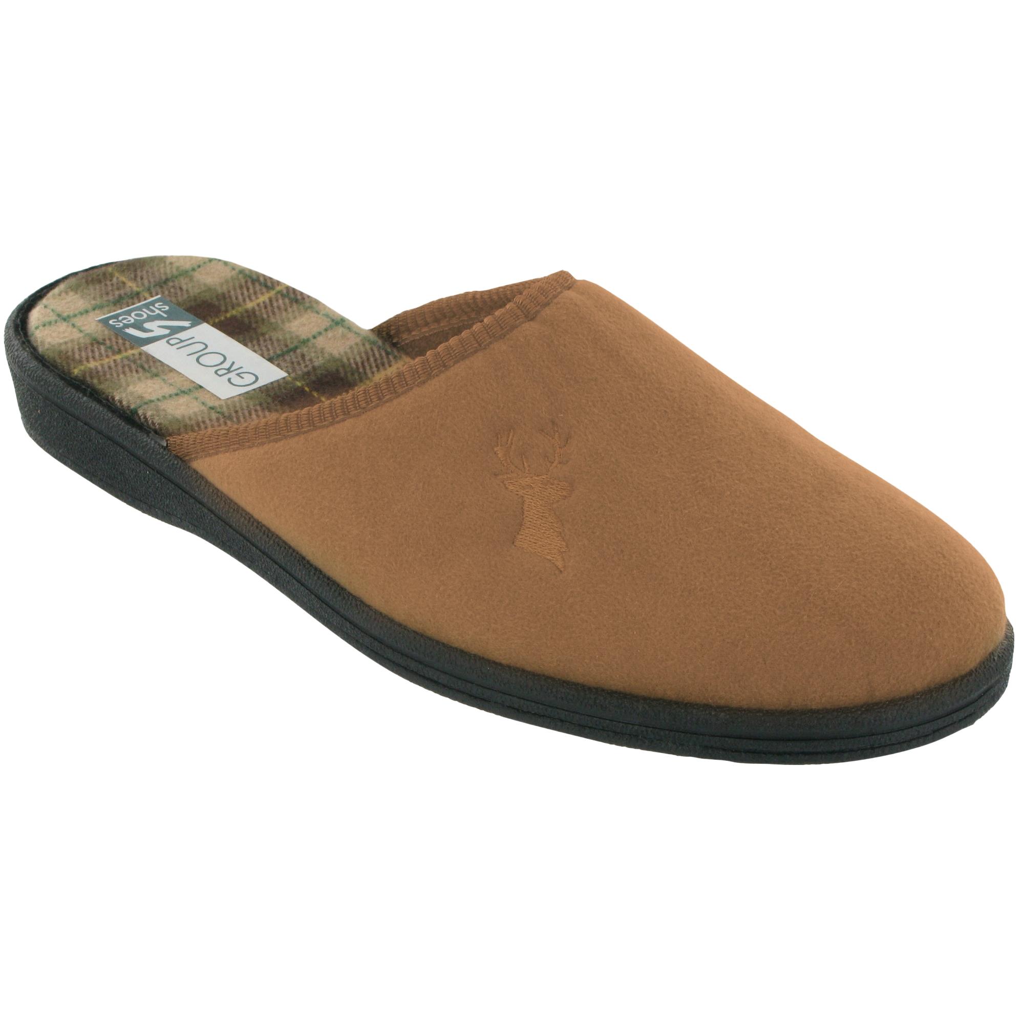 2c82bd85571 Mirak Buck Mens Classic Mule Slip-on Slippers  Scuffs  Indoor Shoes   Footwear