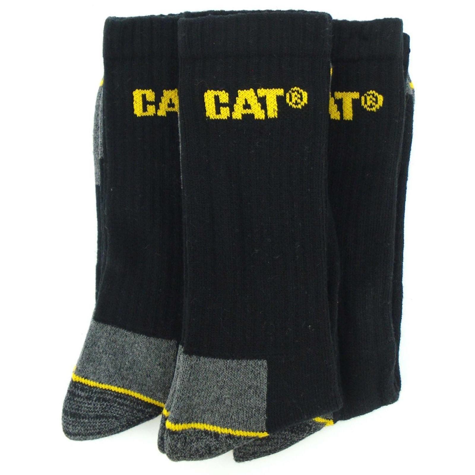 Chaussettes-de-travail-Caterpillar-lot-de-3-paires-pour-homme-EUR-FS181 miniature 5