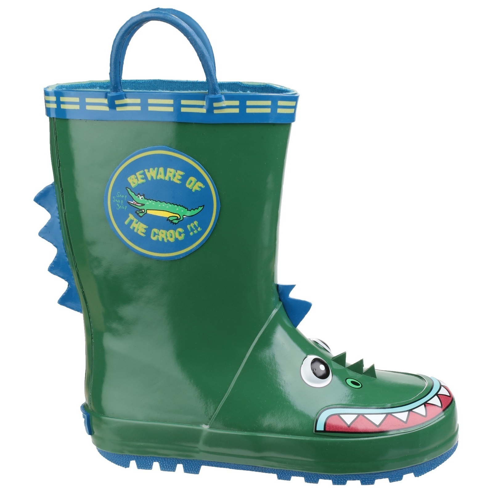 Puddle Play Boy/'s Green Frog Rain Boots Sizes Toddler//Little kids GNR407444