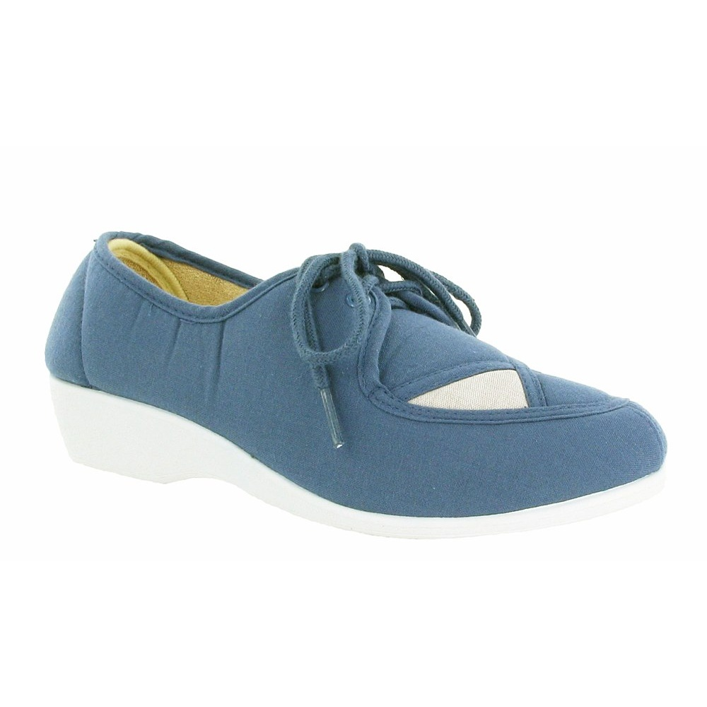 Mirak Nelly Lace Up Canvas Blue Size 6