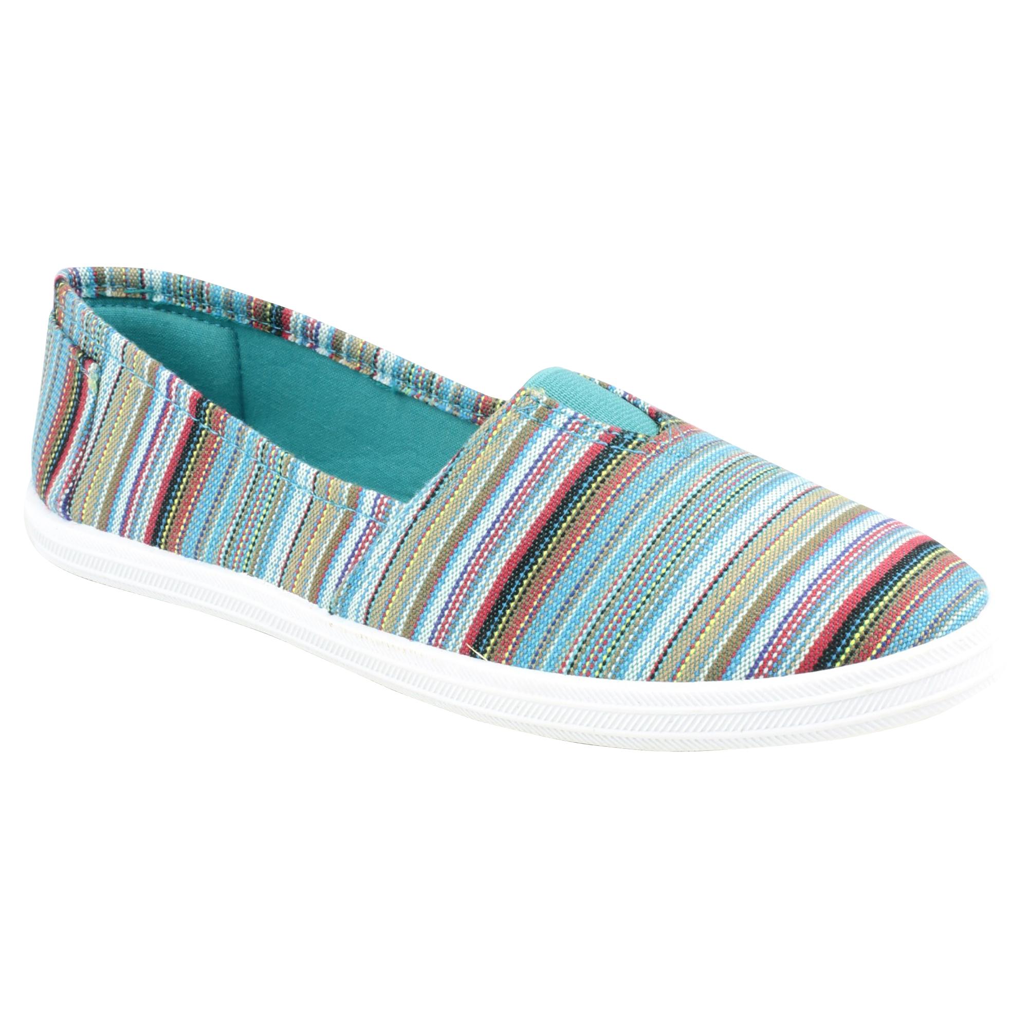 Divaz Taylor para Mujer Informal de Verano Diseño a Rayas Sin Cordones Zapatos/pisos