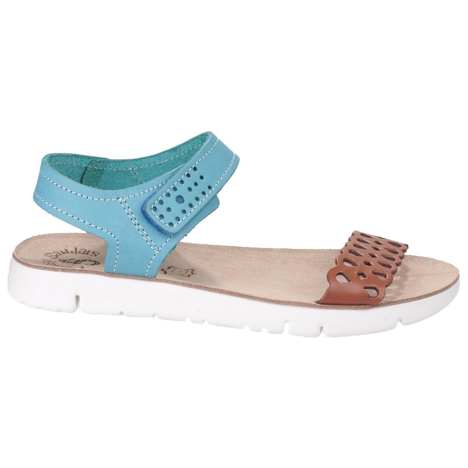 Damen Agios Kontrast Kontrast Kontrast Sandale mit Klettverschluss (FS3534) 6c9494