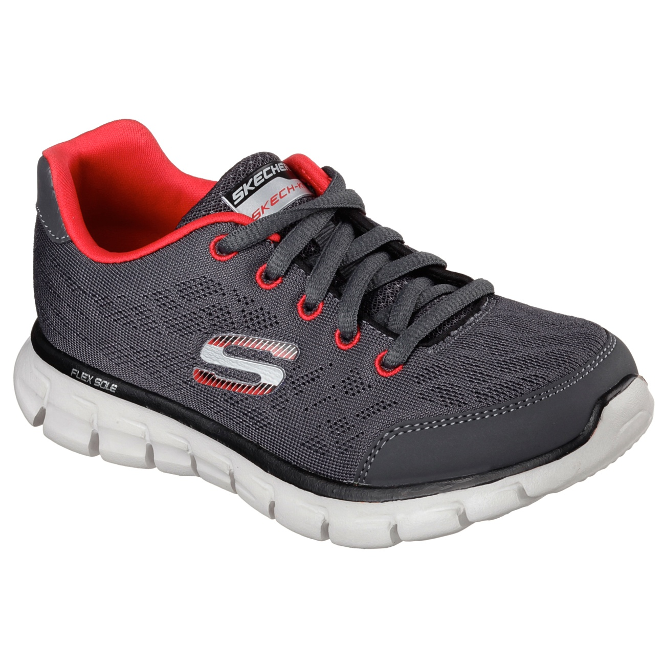 Skechers-Childrens-Boys-Synergy-Fine-Tune-Lace-Up-Trainers-FS3549
