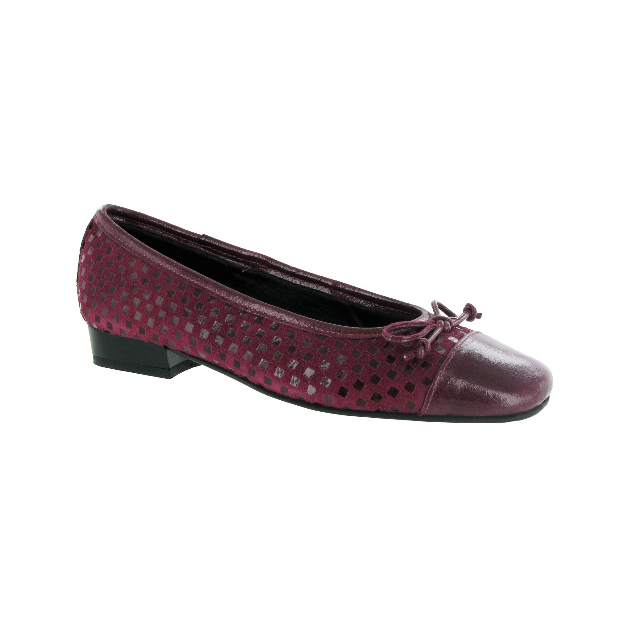 Riva Andros Patent/Suede Women's Ballerina Shoe Fuchsia - 38 vPJCZTC