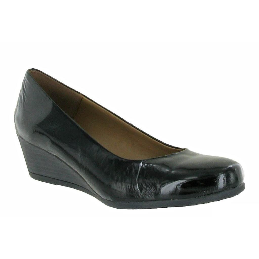 Riva Womens/Ladies Nadone Plain Wedge Heel Court Shoes (8 UK) (Black)