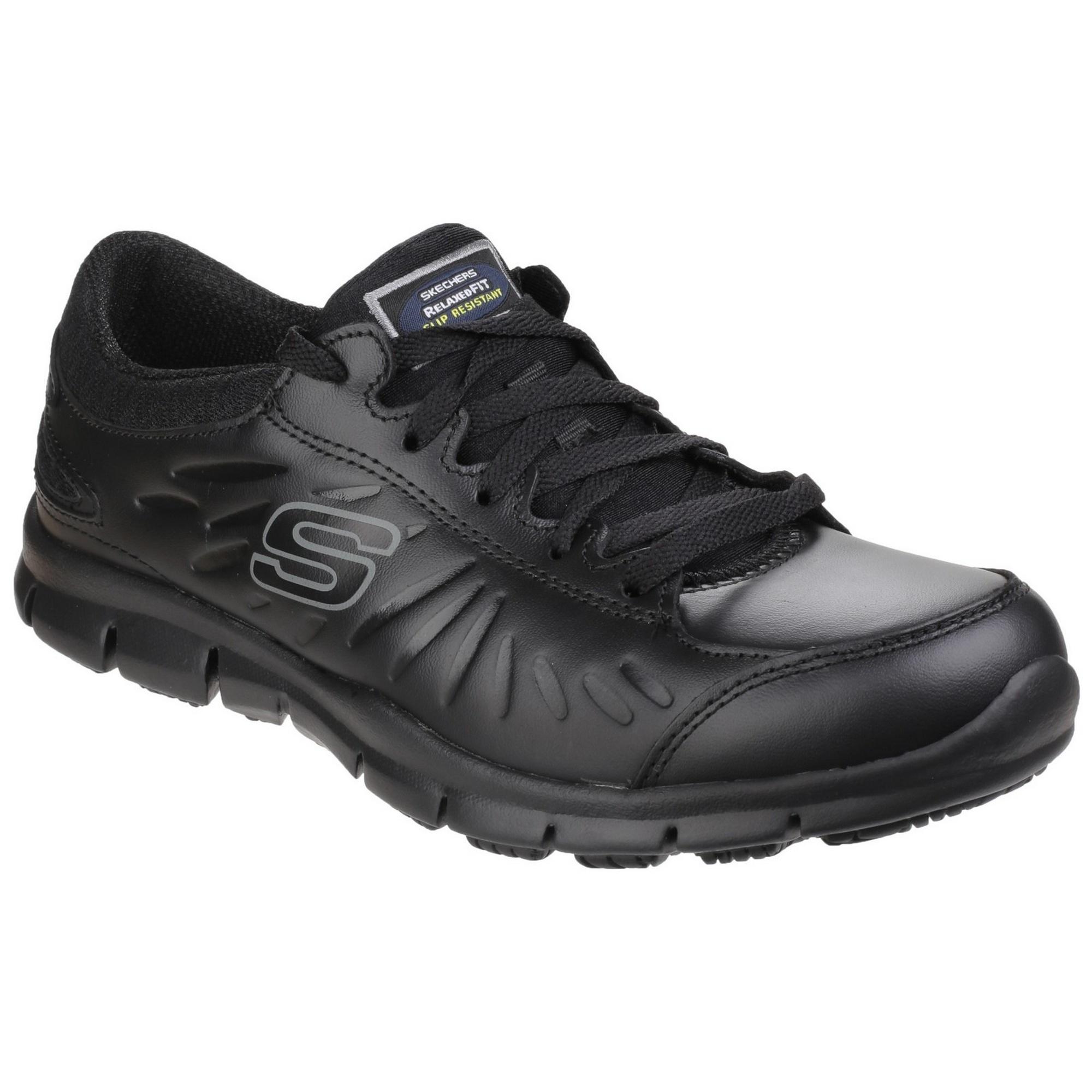 Skechers-Occupational-Womens-Ladies-Eldred-Slip-Resistant-Lace-Up-Work-FS4030