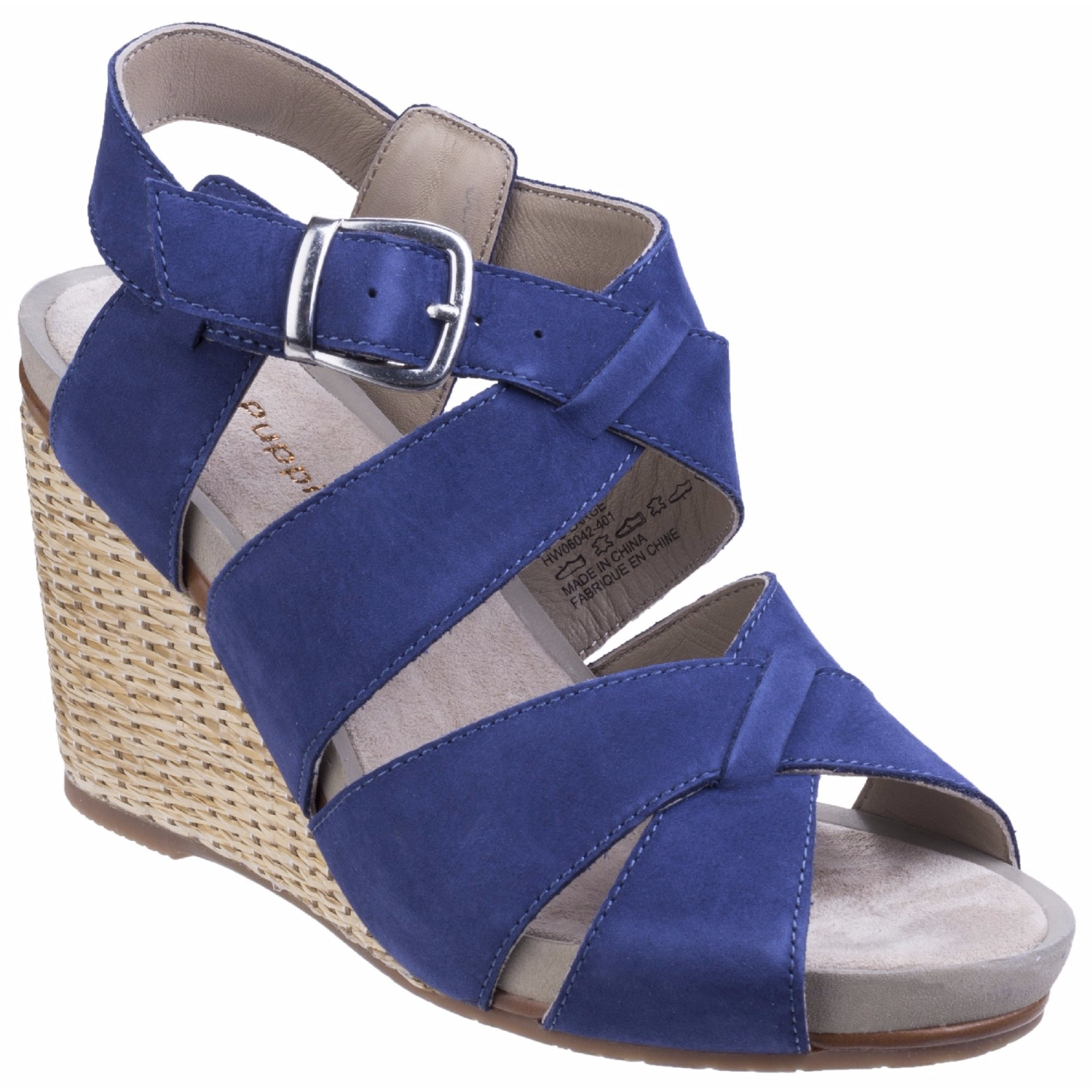 Hush-Puppies-Womens-Ladies-Fintan-Montie-Cross-Design-Wedge-Sandals-FS4260
