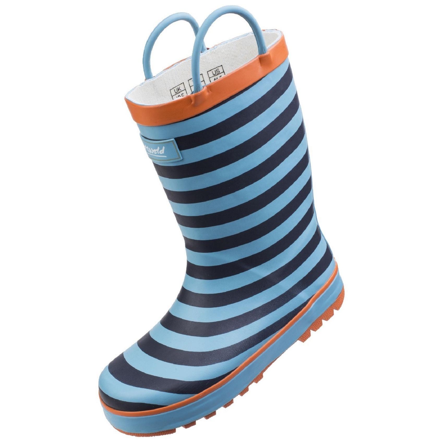 Cotswold Childrens//Kids Captain Striped Wellington Boots