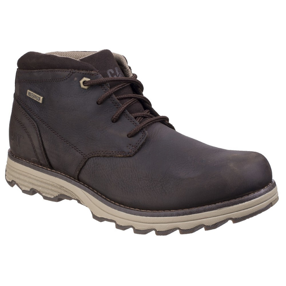 CAT Lifestyle Mens Elude WP Lace Up Boots (8 UK) (Dark Brown)