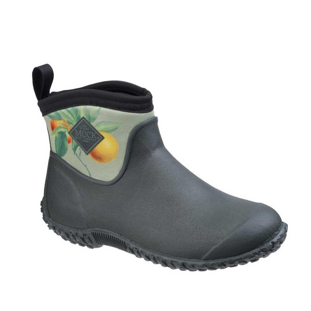 Muck Boots Womens/Ladies Muckster II Ankle RHS Gardening Shoes (3 UK) (Green/Citrus-Aurantium)