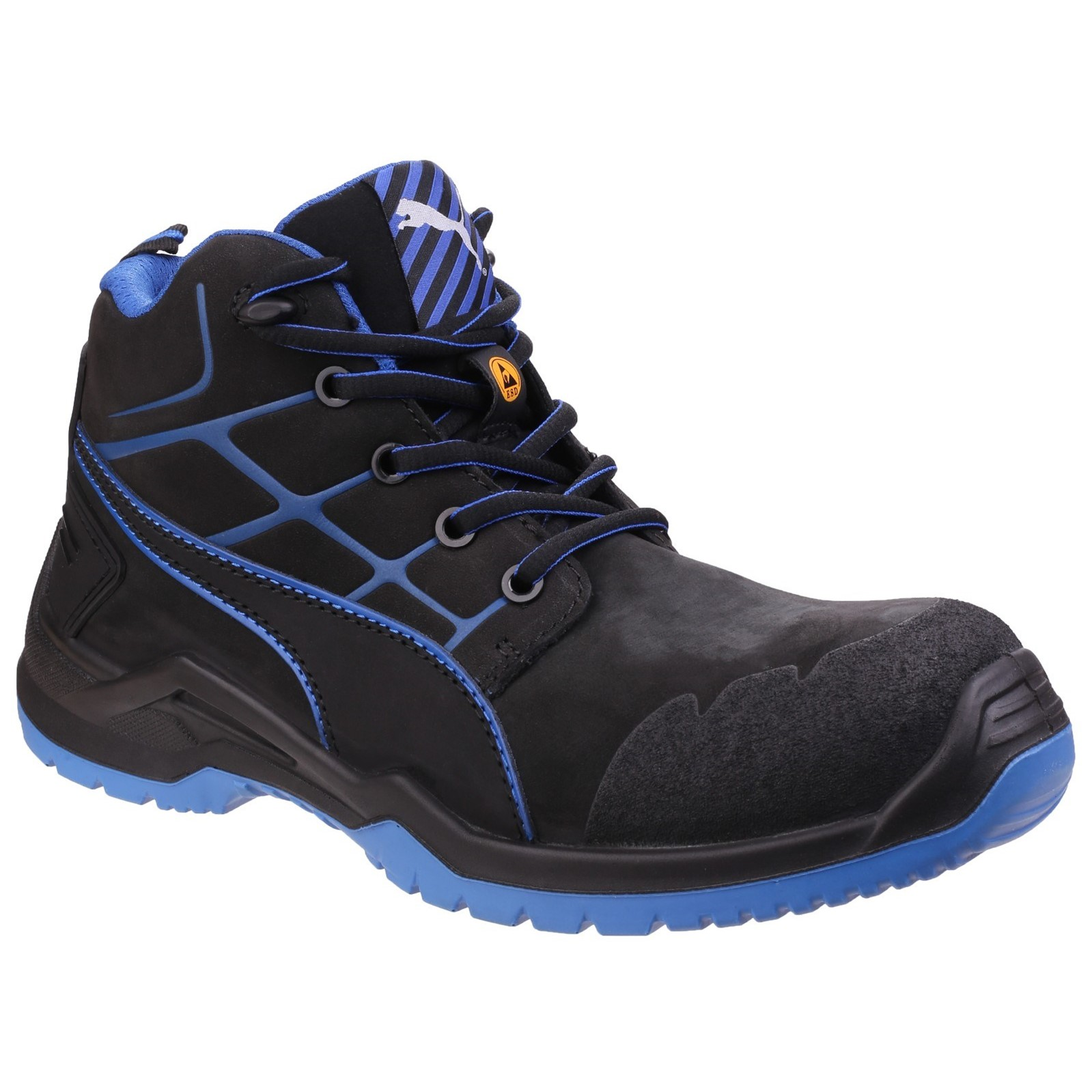 Puma Mens Krypton Lace Up Safety Boots (10 UK) (Blue)