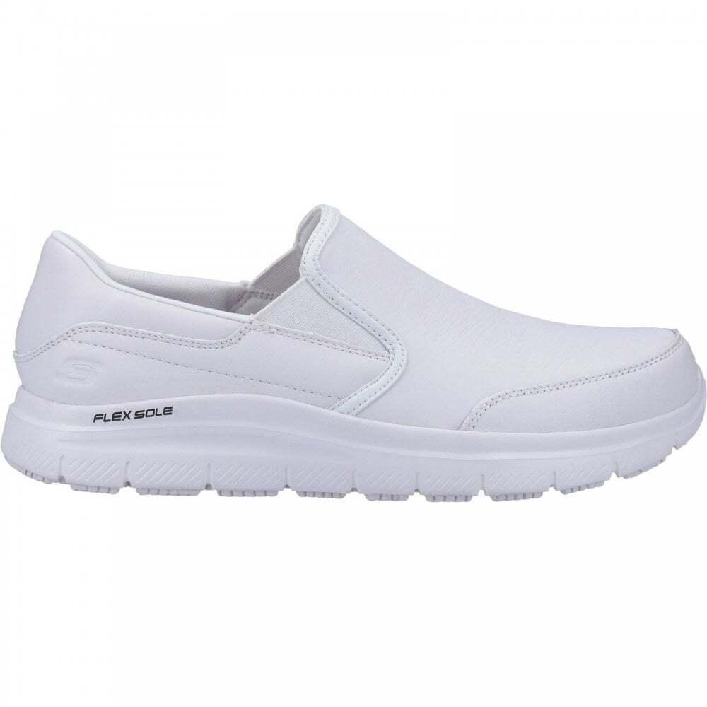 Skechers-Mens-Leather-Flex-Advantage-SR-Bronwood-Slip-On-Shoes-FS5088 thumbnail 7