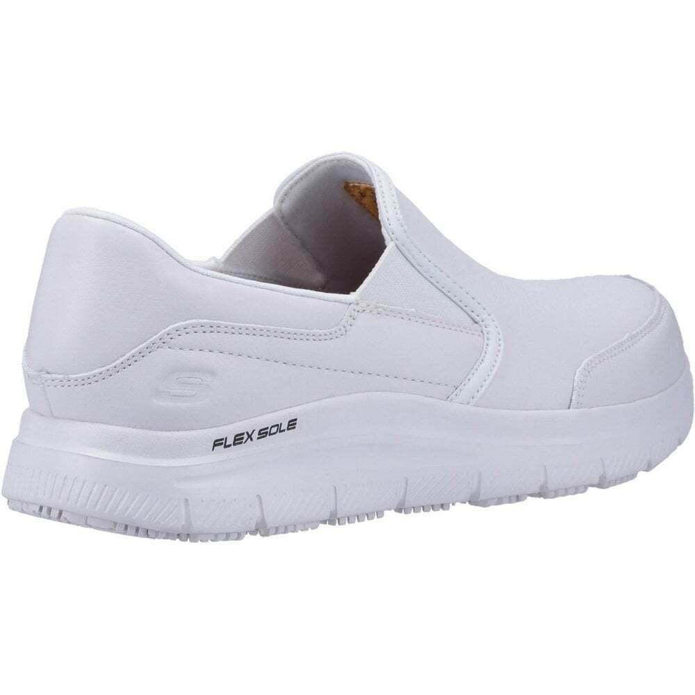 Skechers-Mens-Leather-Flex-Advantage-SR-Bronwood-Slip-On-Shoes-FS5088 thumbnail 8