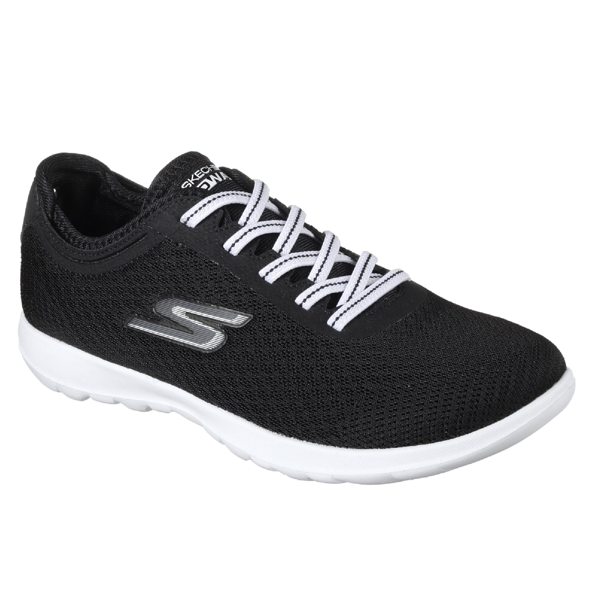 Go Walk Lite-Impulse, Zapatillas para Mujer, Negro (Black/White), 38 EU Skechers