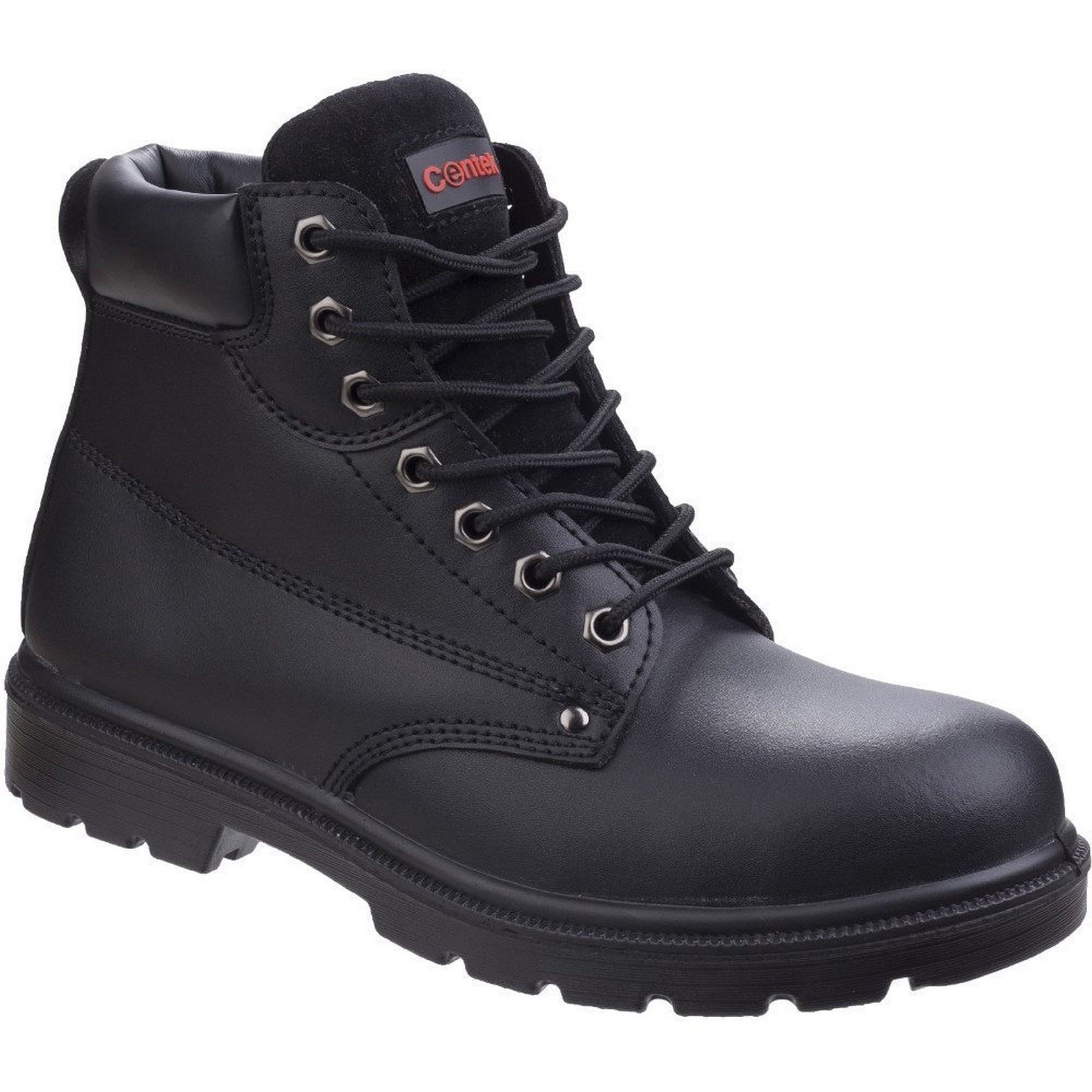 Centek Mens FS331 Classic Ankle S3 Lace Up Leather Safety Boots (10 UK) (Black)