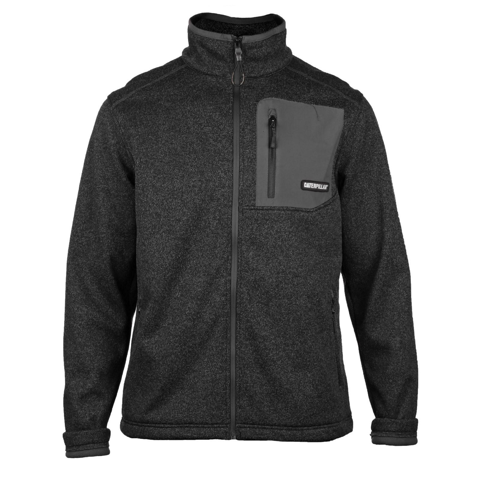 CAT Lifestyle Mens Polar Fleece Jacket (S) (Black)