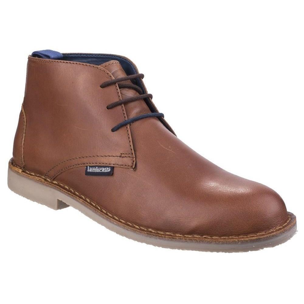 Lambretta Mens Carnaby III Suede Desert Boots (9 UK) (Tan Waxy Leather)